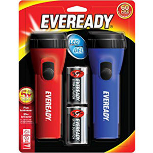 EVEREADY 1D LED Flashlight 2-pack