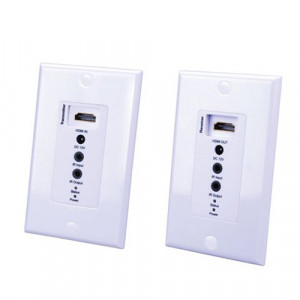 VANCO Evolution HDMI Over Single Cat5e/Cat6 Cable Extender Wall Plate