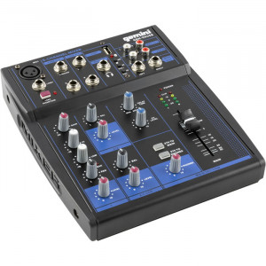 GEMINI 5 Channel USB Mixer with Bluetooth