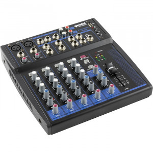 GEMINI 8 Channel USB Mixer with Bluetooth