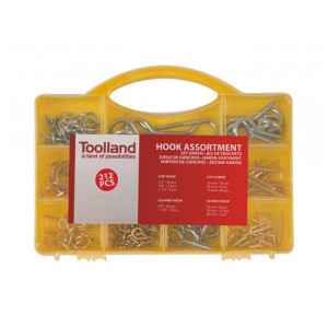 VELLEMAN Toolland Hook assortment - 212 pcs