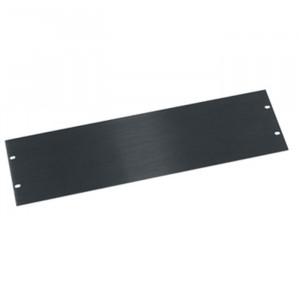 MIDDLE ATLANTIC 3U Blank Rack Panel with Black Anodized Finish