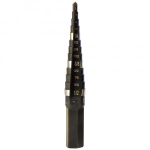 "KLEIN Step Drill Bit #1 - Double-Fluted 1/8"" to 1/2"""