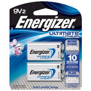 ENERGIZER Ultimate Lithium 9v Battery 2pk