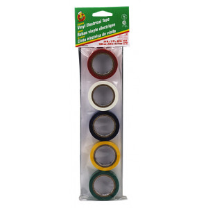 PHILMORE Vinyl Electrical Tape 5pk Assorted Colors