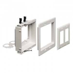 ARLINGTON 2-Gang Recessed Low-Voltage Mounting Bracket