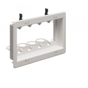 ARLINGTON 4-Gang Recessed Low-Voltage Mounting Bracket
