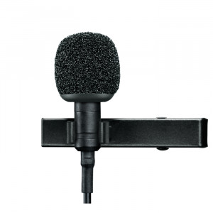 "SHURE Condenser Lavalier Microphone with 1/8"" plug"