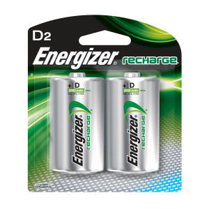 ENERGIZER Rechargeable NIMH D Battery 2pk