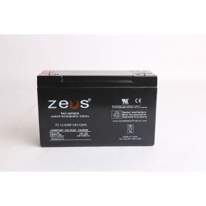 ZEUS Sealed Lead Acid Battery 6v 12ah