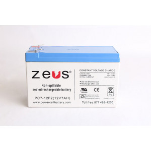 ZEUS Sealed Lead Acid Battery 12v 7ah
