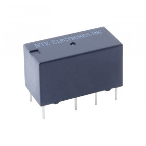 NTE PC Mount Relay 5/6VDC 2A DPDT Dual Coil Latching Type