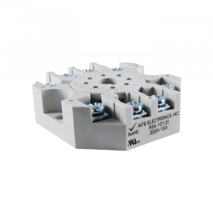 NTE 8-Pin Octal Relay Socket Panel/Surface Mount
