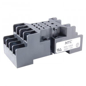 NTE 14-Pin Miniature Relay Socket Panel/Surface Mount