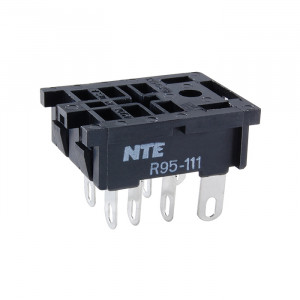 NTE 8-Pin Midget Blade Relay Socket Panel Mount