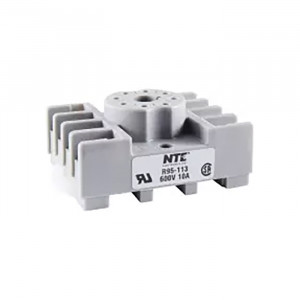 NTE 8-Pin Octal Relay Socket Panel/Surface/DIN Rail Mountable