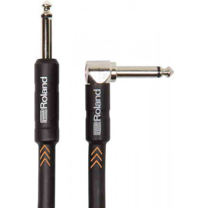 """ROLAND Instrument Cable 15ft Right Angled 1/4"""" Black Series"""