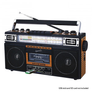 SUPERSONIC Retro 4 Band Radio and Cassette Player with Bluetooth