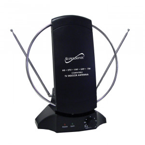 SUPERSONIC HDTV Digital Amplified Indoor TV Antenna