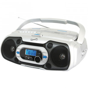 SUPERSONIC Bluetooth Boombox with MP3/CD, Cassette and FM Radio