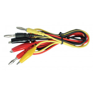 VELLEMAN Banana Plug to Alligator Clip Test Lead Set nla