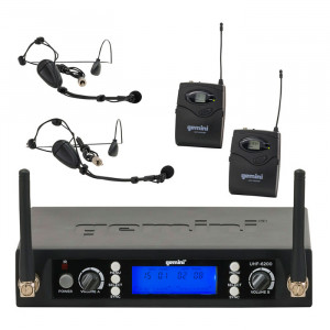 GEMINI Dual Headset/Lav Wireless Mic System