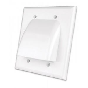 VANCO Low Profile Bulk Cable Wall Plate Dual-Gang