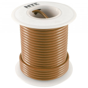 NTE Hook-up Wire 22 AWG Stranded 25ft Brown