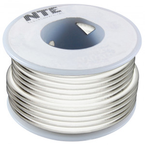 NTE Hook-up Wire 18 AWG Solid 100ft White