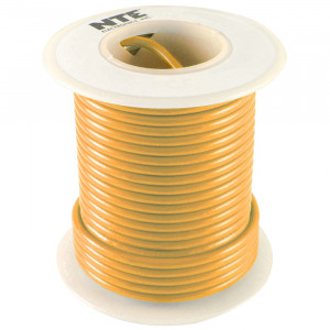 NTE Hook-up Wire 22 AWG Solid 100ft Orange