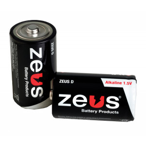 ZEUS Alkaline D Battery 12pk