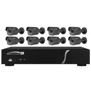 SPECO 8 Channel NVR with Built-in POEand 8 Cameras