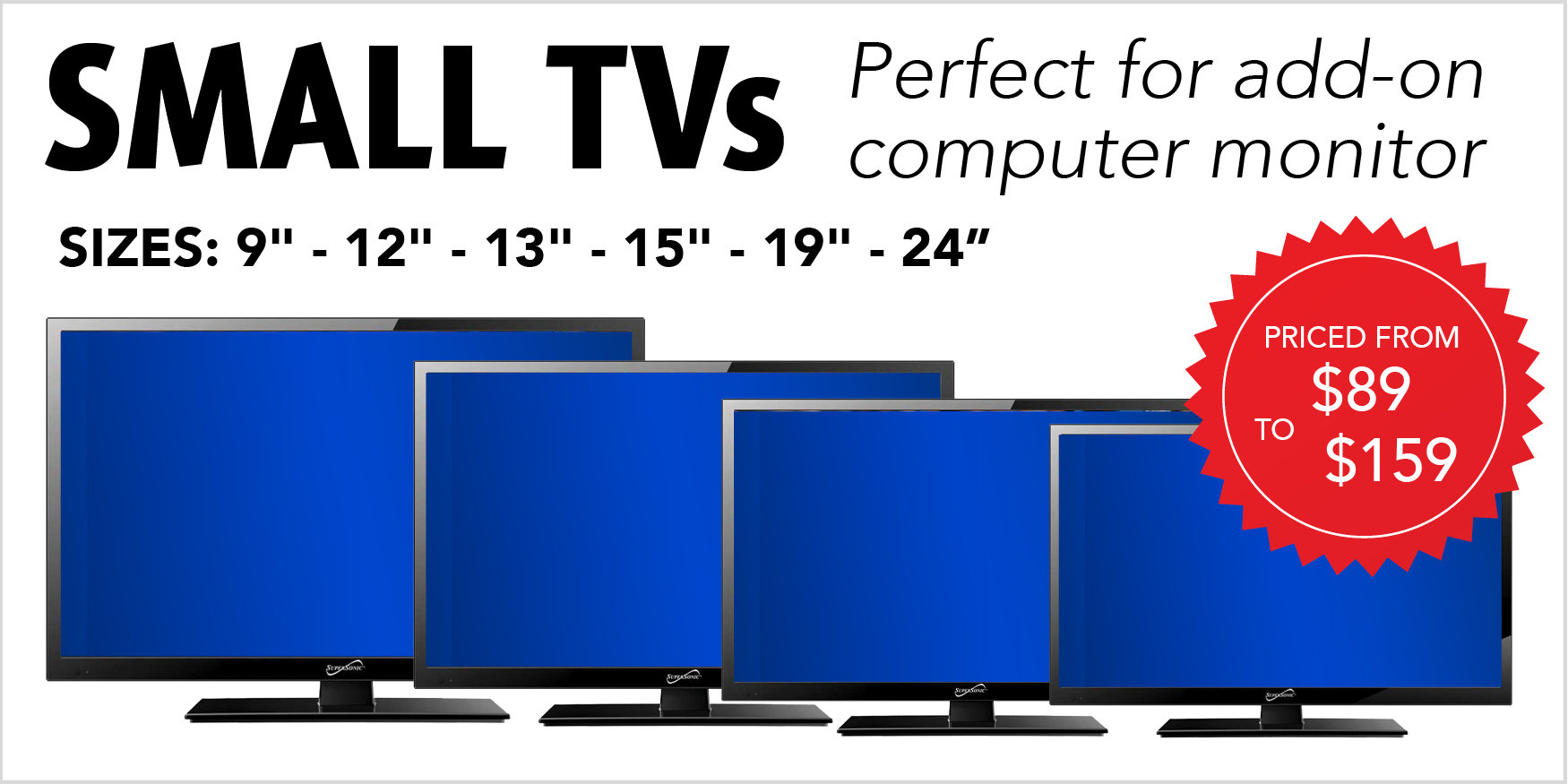 Small TVs for Monitors